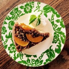 Peach Bourbon Upside Down Cake