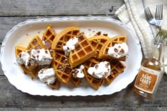 Pumpkin Spice Pecan Waffles