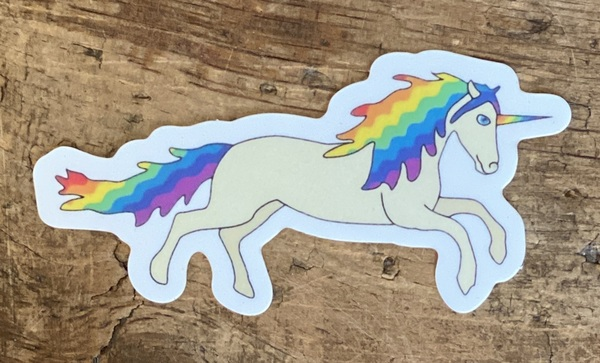 Rainbow Bark Unicorn