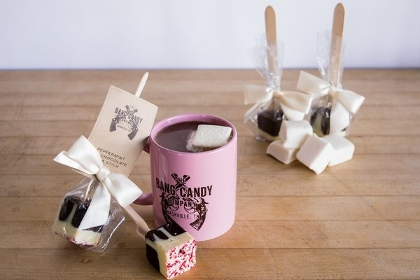 Peppermint Hot Chocolate on a Stick Gift Set