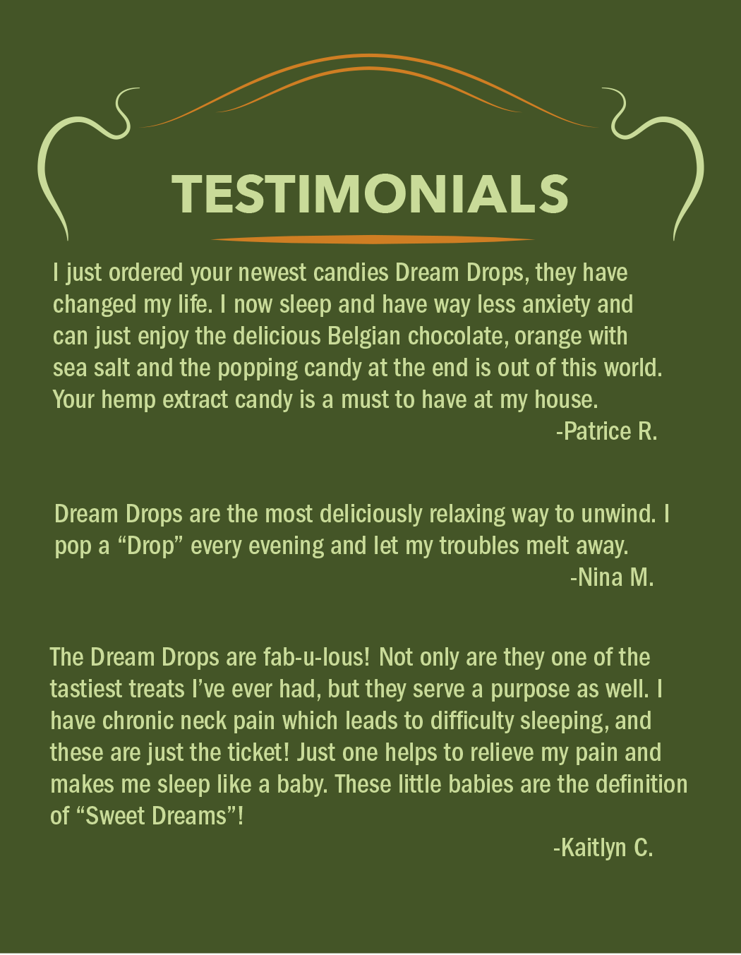 CBD Dream Drop Testimonials