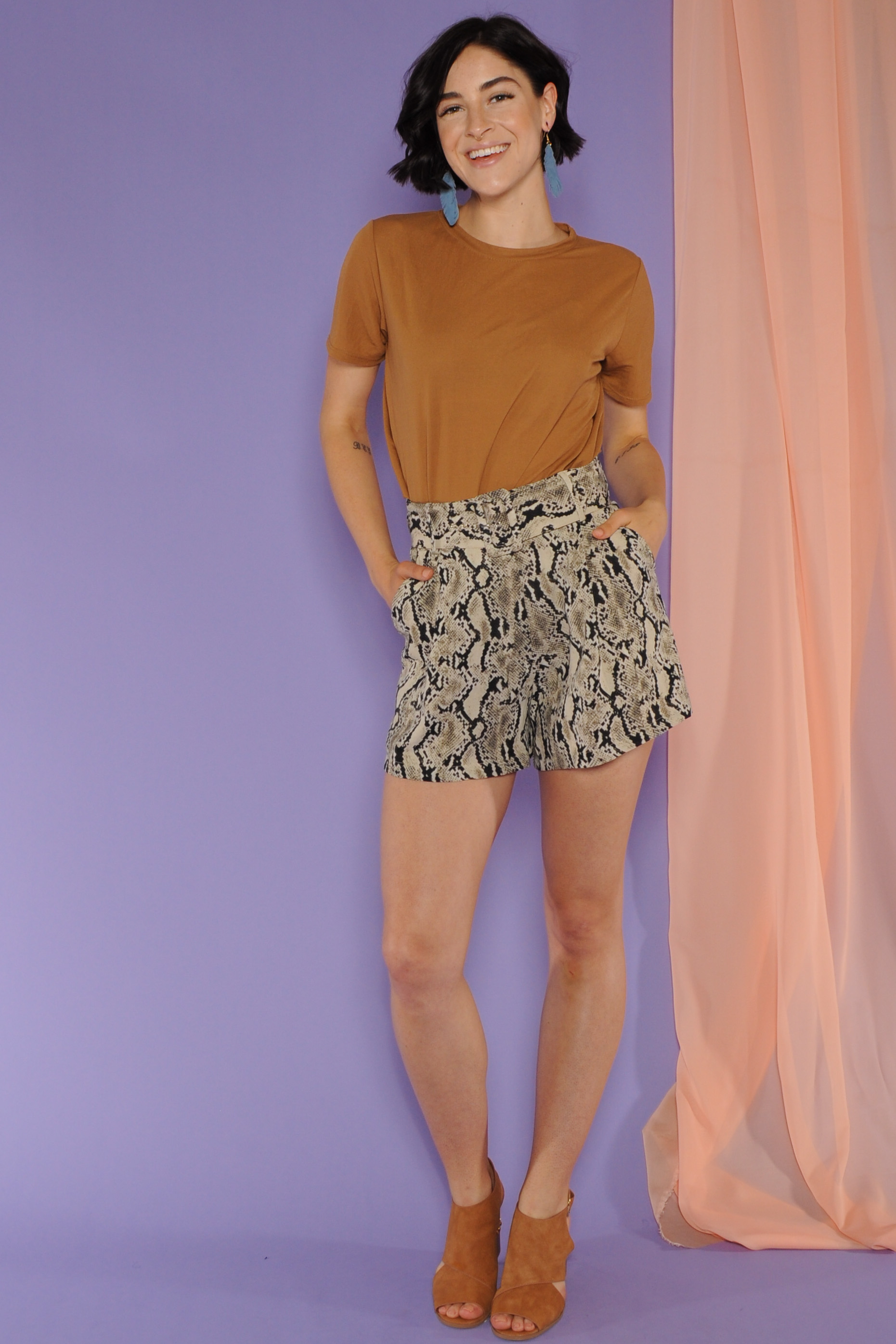 Kaelyn Snake Shorts
