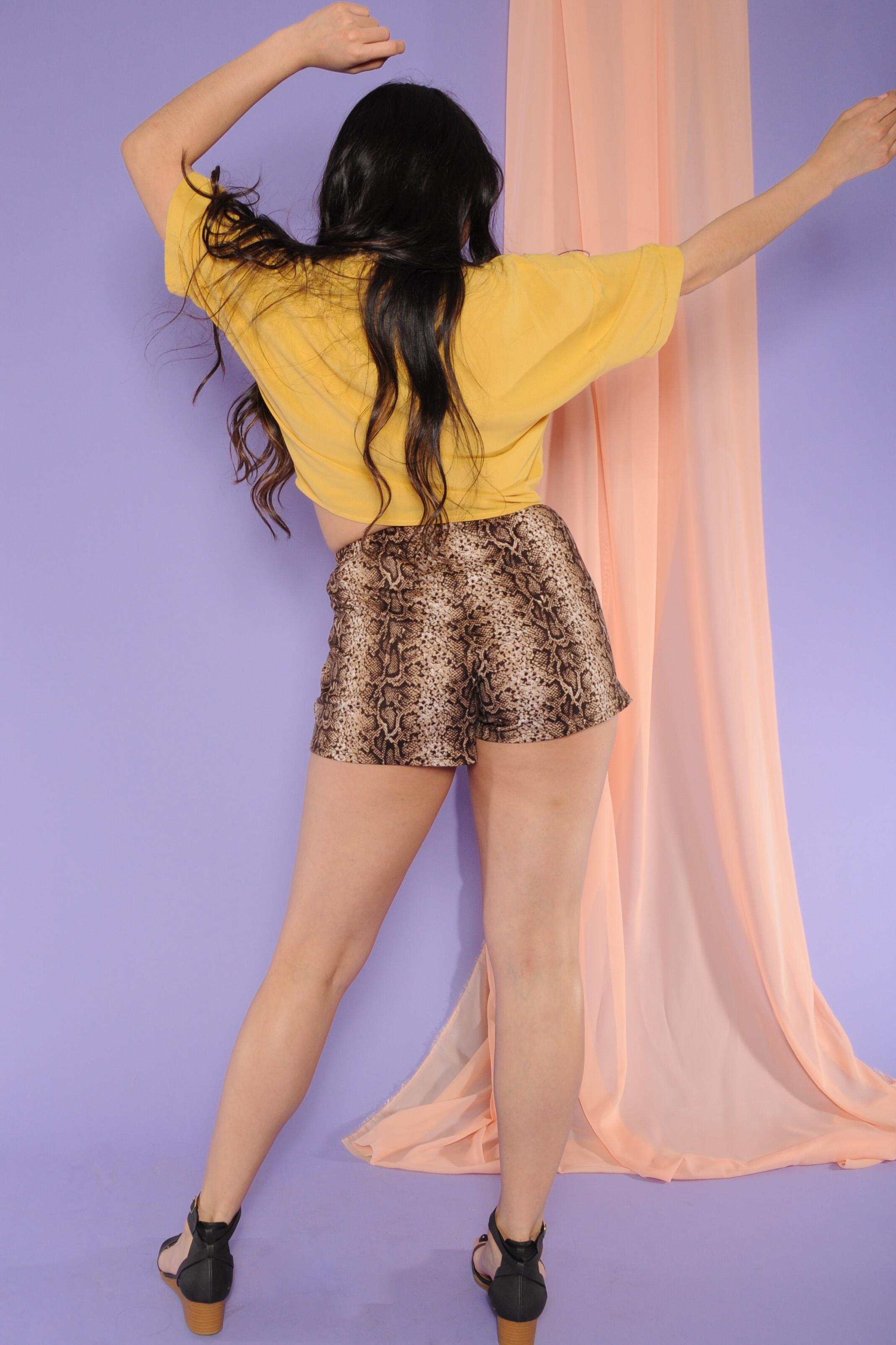 Sylvia Snake Shorts