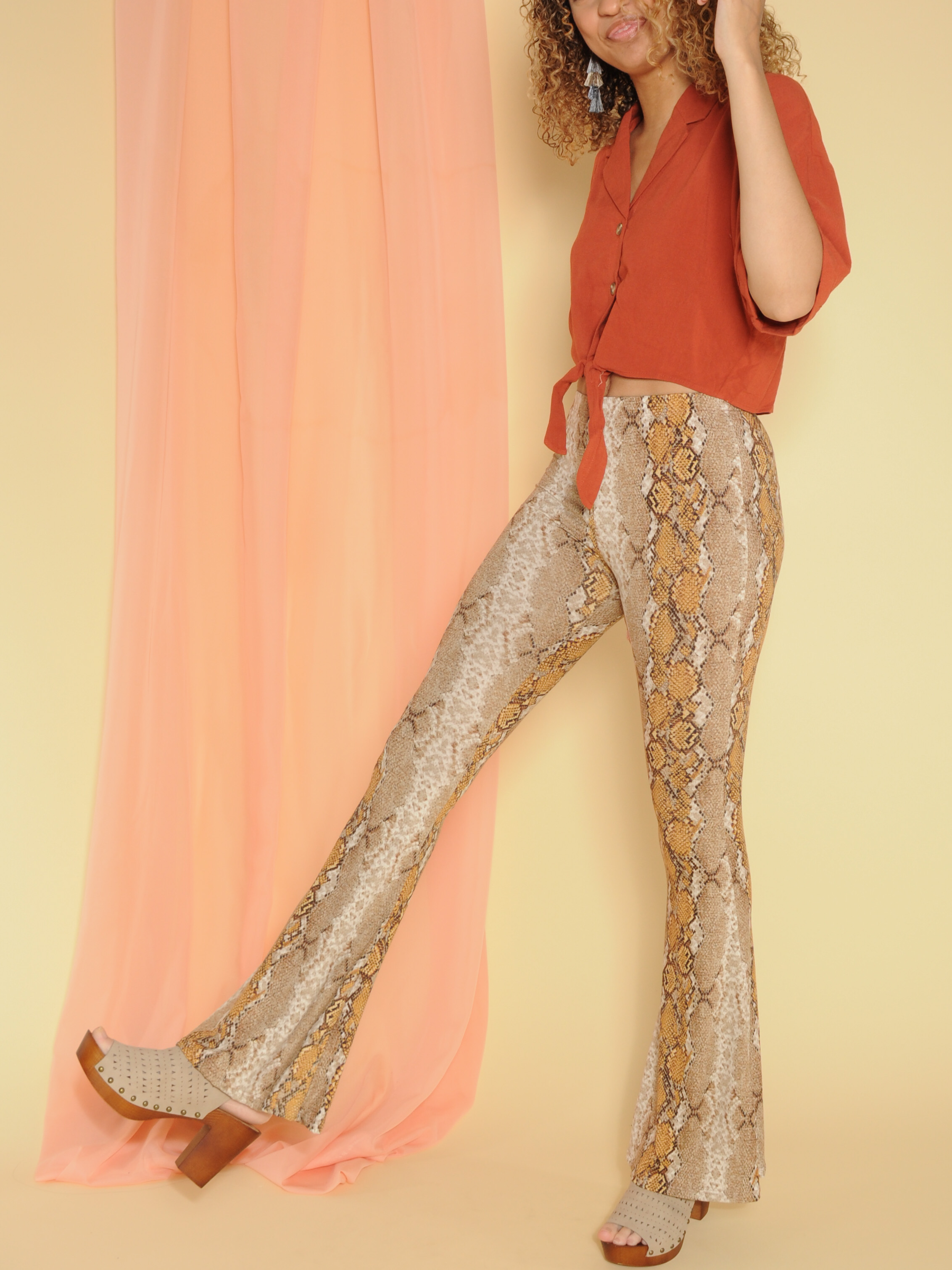 Golden Snake Pants