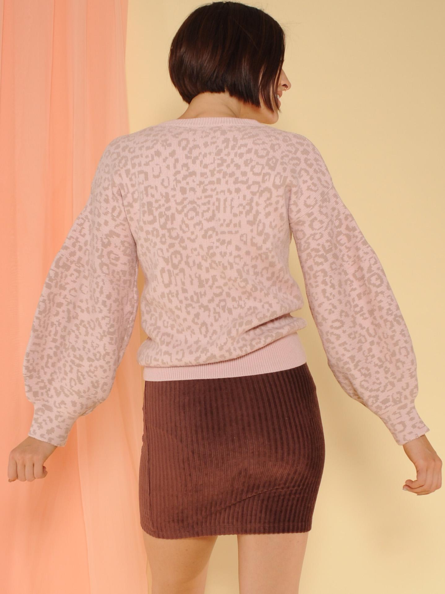 Bebe Leopard Sweater