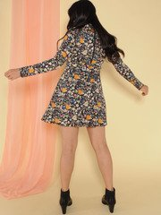 Kaylea Dress Floral Long Sleeve Turtleneck