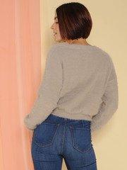 Lenora Sweater Furry Grey Long Sleeve