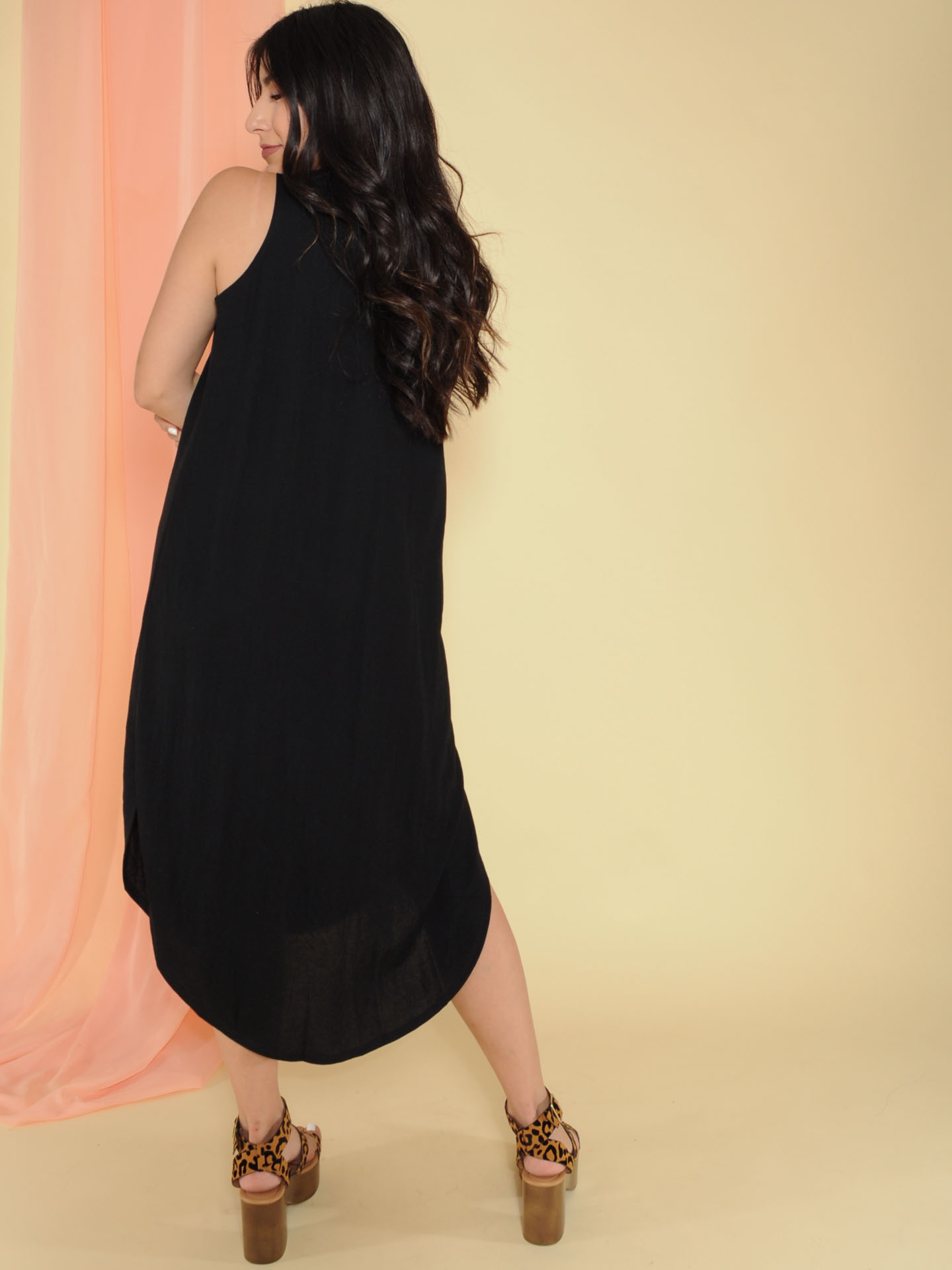 Jocelyn Dress Tank Maxi Basic Back Black