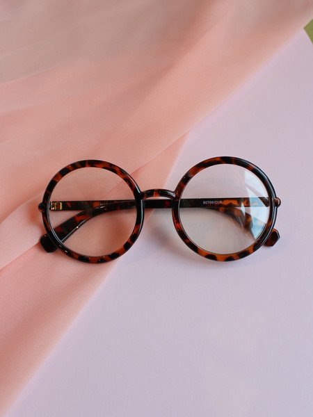 Cyrus Glasses Tortoise Circle Clear Lenses