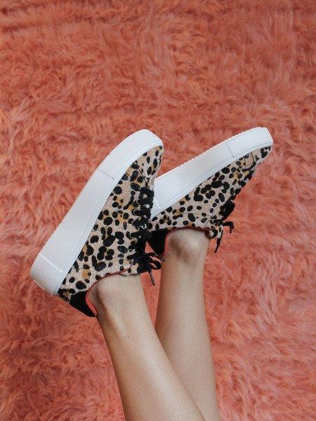 Maxmino Sneaker Camel/Black Leopard