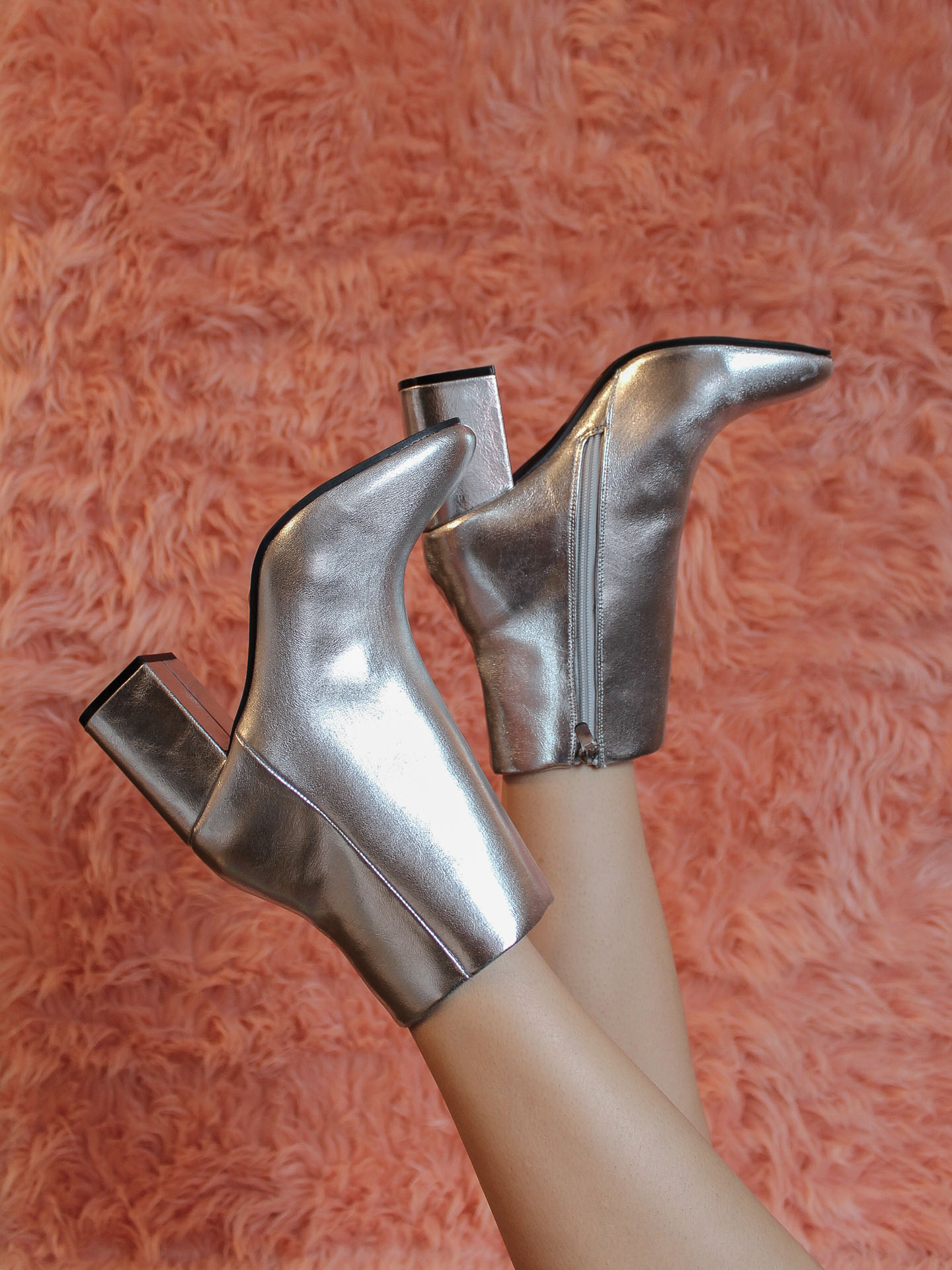 Malone Bootie Silver Heel