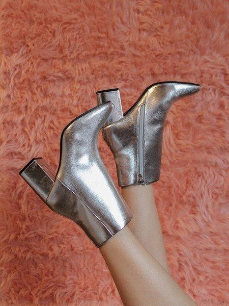 Malone Bootie Silver Heel