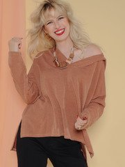 Petra Hoodie Slouchy Oversized Comfy Sweat Shirt Front