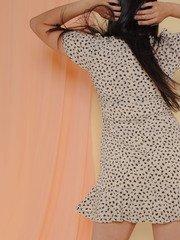 Lesley Dress Ruffle Scribble Dot Summer Dress Back