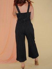 Katniss Jumper Grid Print Wide Leg Romper Back