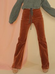 Layla Pants Corduroy Bell Bottoms Camel Front