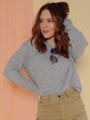 Doha Sweater Heather Grey Long Sleeve Front