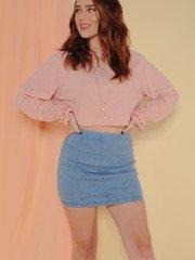 Jennifer Skirt Denim Bodycon Mini Front
