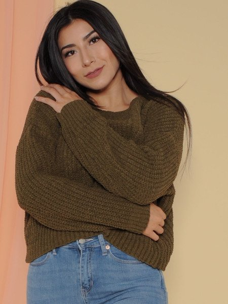 Leia Sweater Soft Knitted Long Sleeve Deep Olive