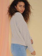 Leia Sweater Soft Knitted Long Sleeve Alpaca Side