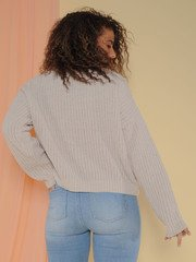 Leia Sweater Soft Knitted Long Sleeve Alpaca Back
