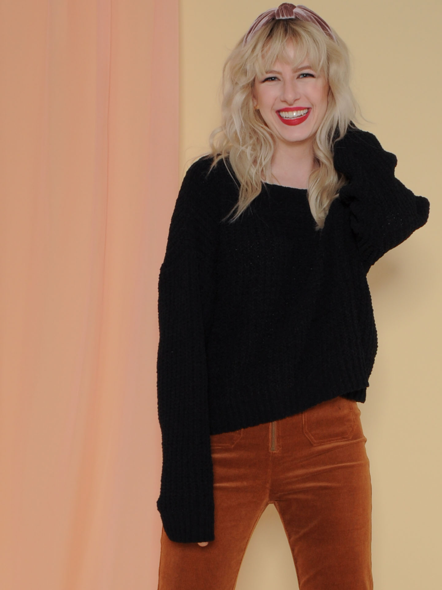 Leia Sweater Soft Knitted Long Sleeve Black