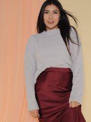 Kinsley Sweater Soft Sherpa Long Sleeve Cloud Front