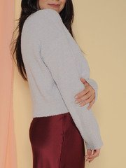 Kinsley Sweater Soft Sherpa Long Sleeve Cloud Side