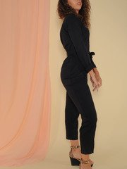 Gigi Jumpsuit  Sleek Black One Piece Size