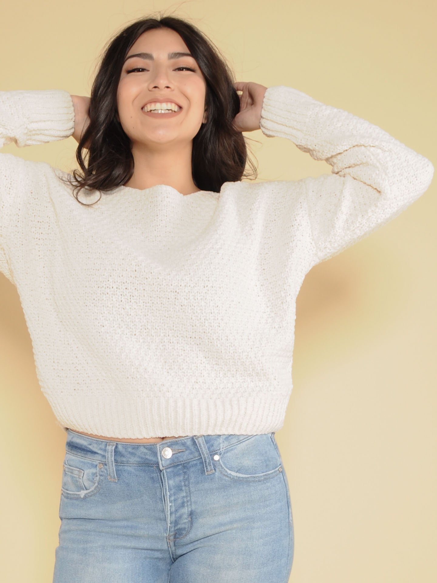 Kelly Sweater Cream Front