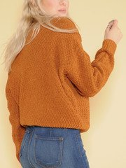Kelly Sweater Brown Knitted Long Sleeve Back
