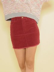 Tracy Skirt Corduroy Mini Wine Front