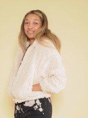 Furry Hoodie Soft Zip Up Hoodie Side