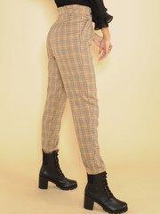 Delaney Plaid Pants High Rise Classy Skinny