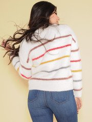 Color Striped & Fuzzy Tallulah Sweater