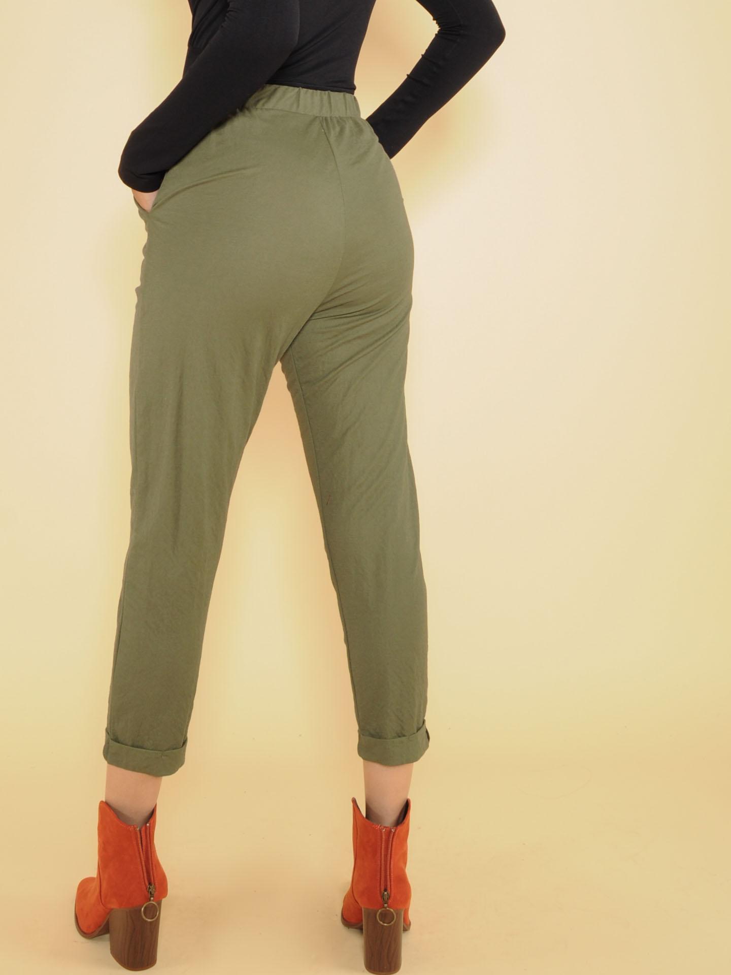 Dexter Pant Comfy Olive Joggers Back