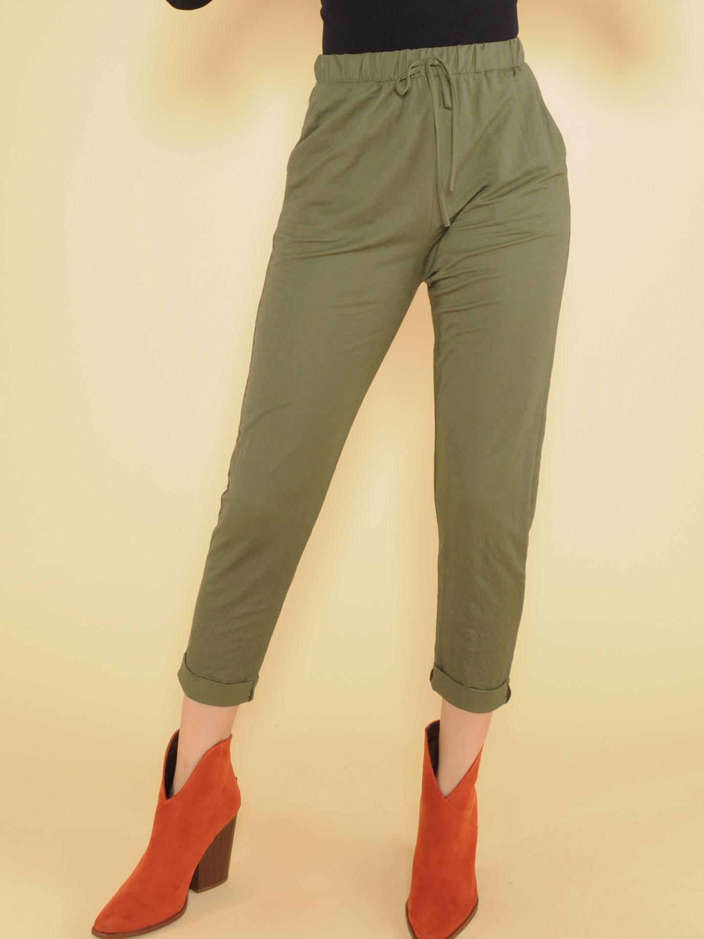 Dexter Pant Comfy Olive Joggers Front