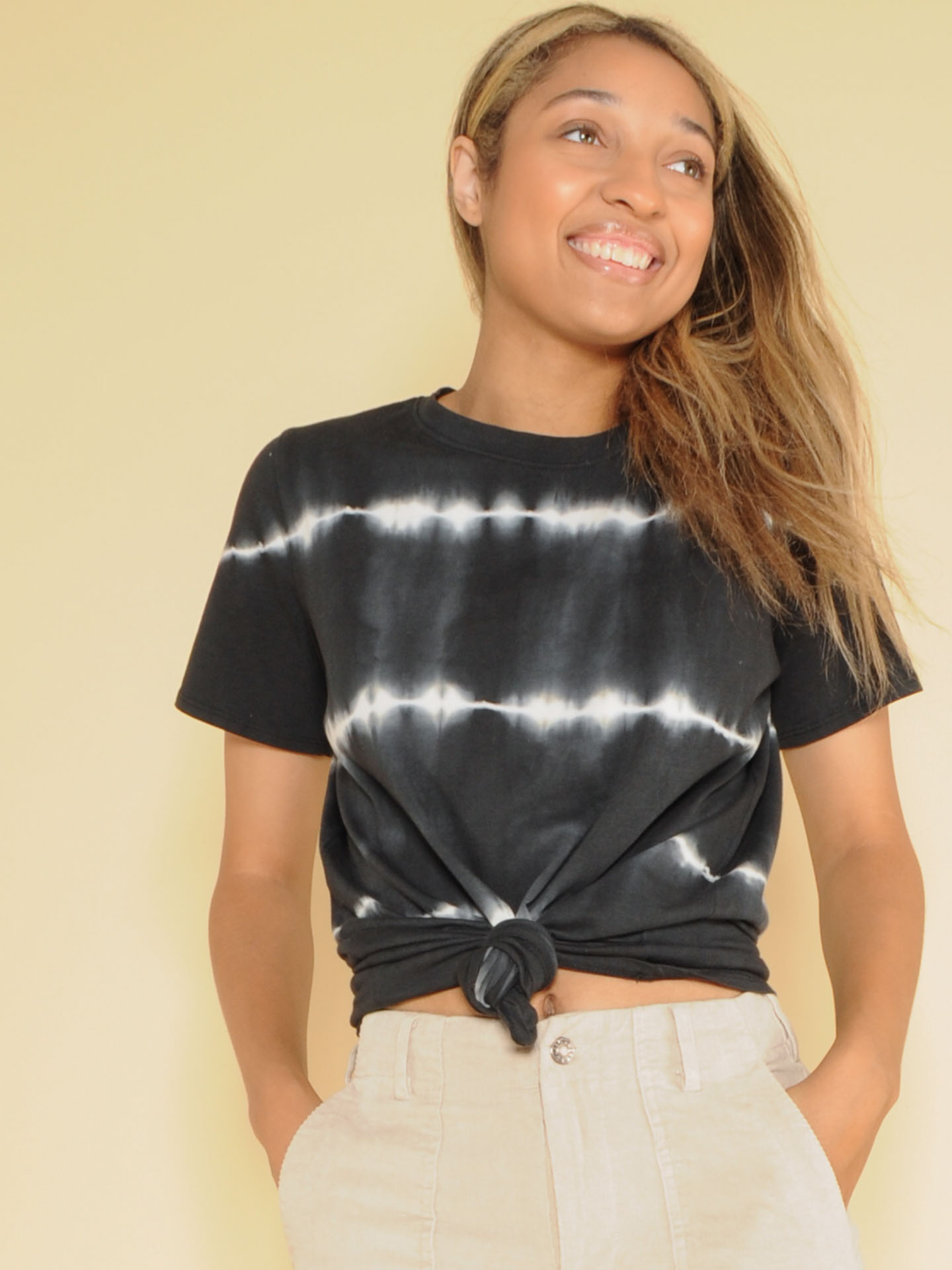 Heartbeat Top  Velvety Soft Basic Striped Front