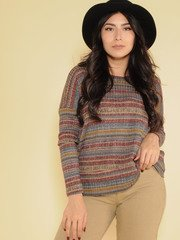 Hadley Striped Top 70's Inspired Long Sleeve