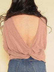 Oprah Open Back Top Mauve Back