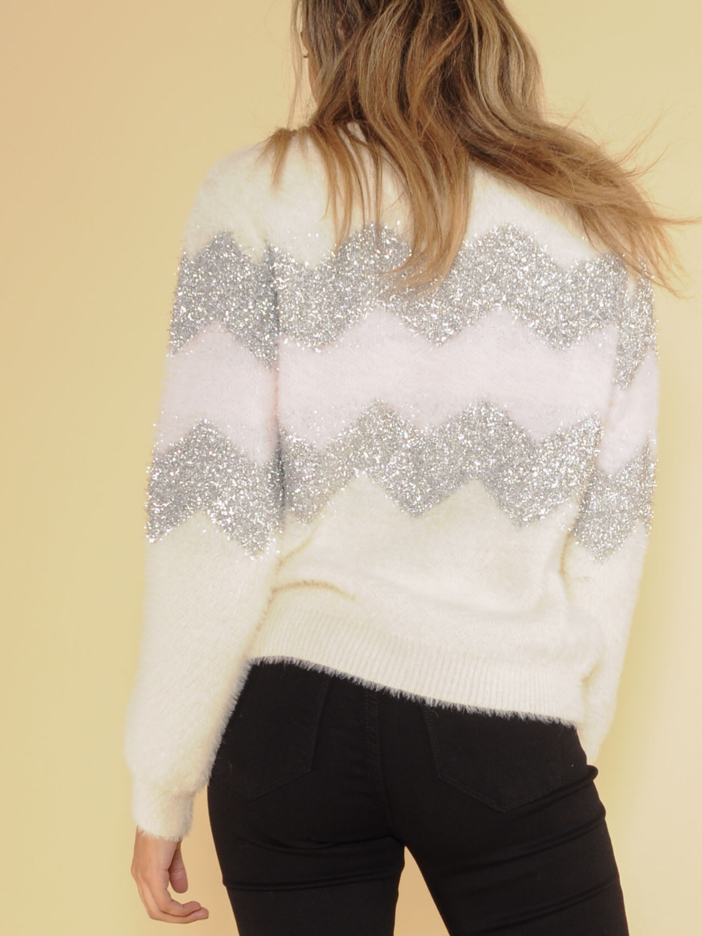 Sparkly Charlie Brown Sweater Back