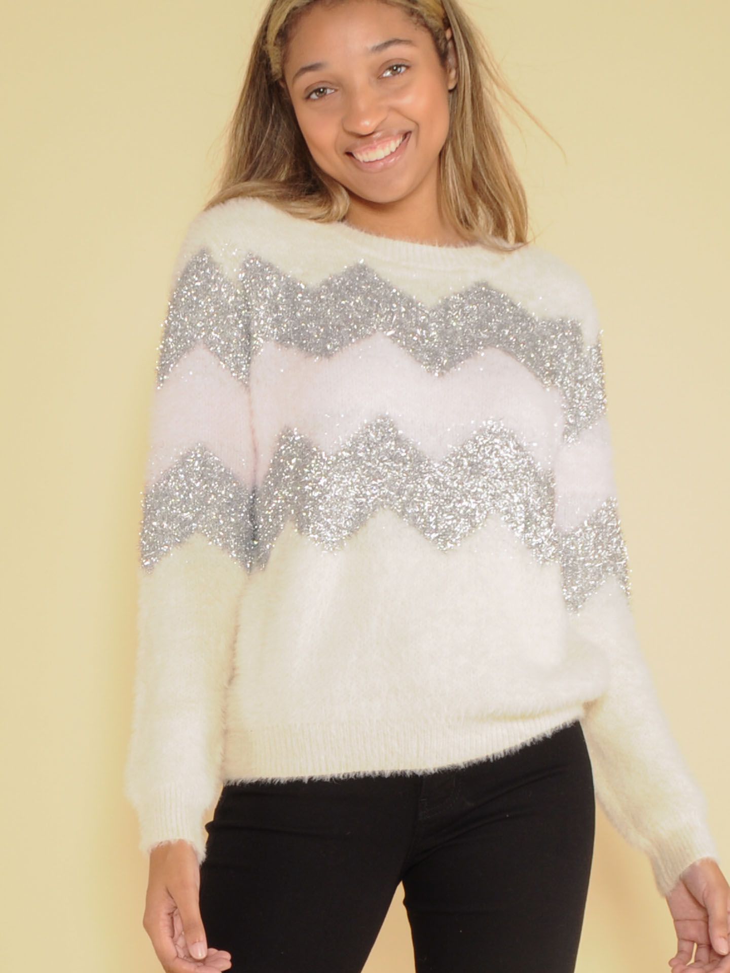 Sparkly Charlie Brown Sweater Front