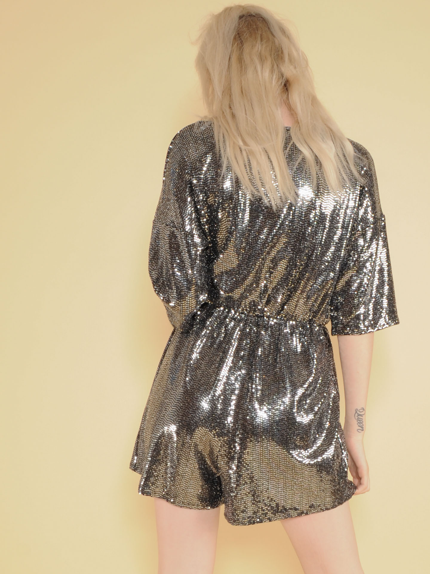 NYE Romper Glitter Party Ready One Piece