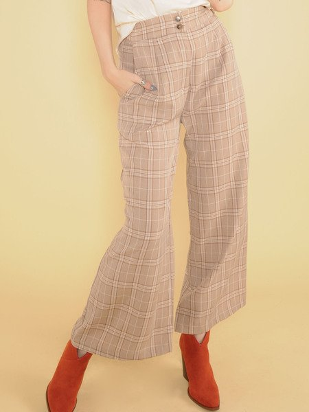 Georgia Plaid Pants Front