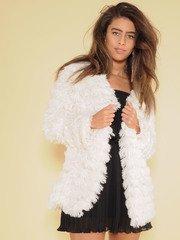 Myla Jacket Soft Cream Tassel Layer Front