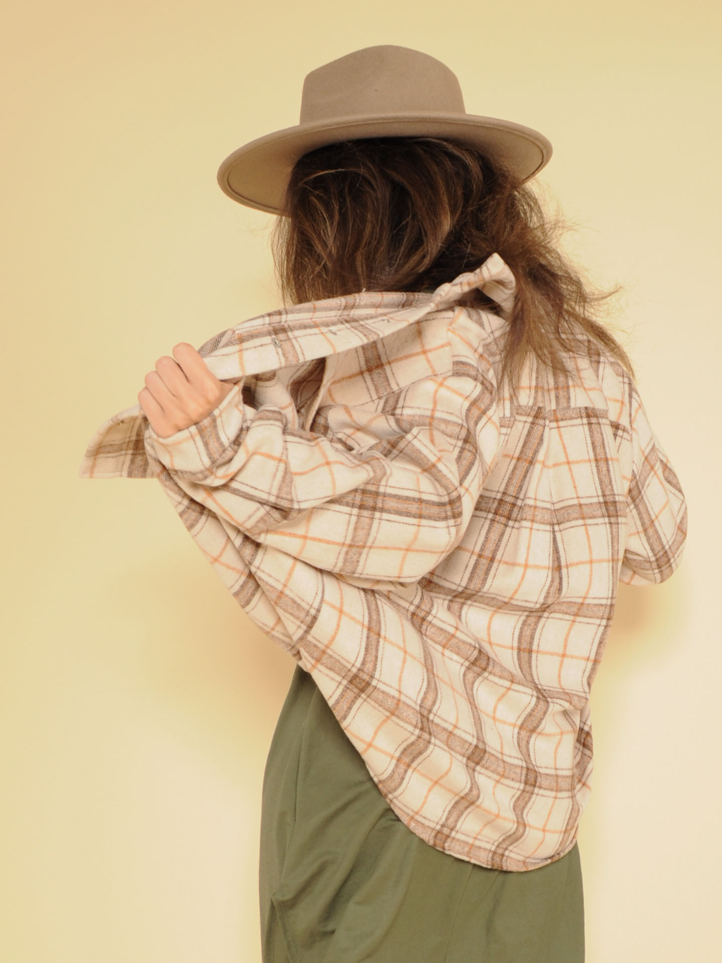 Dawn Shacket Thick Flannel Button Up Back