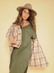 Dawn Shacket Thick Flannel Button Up