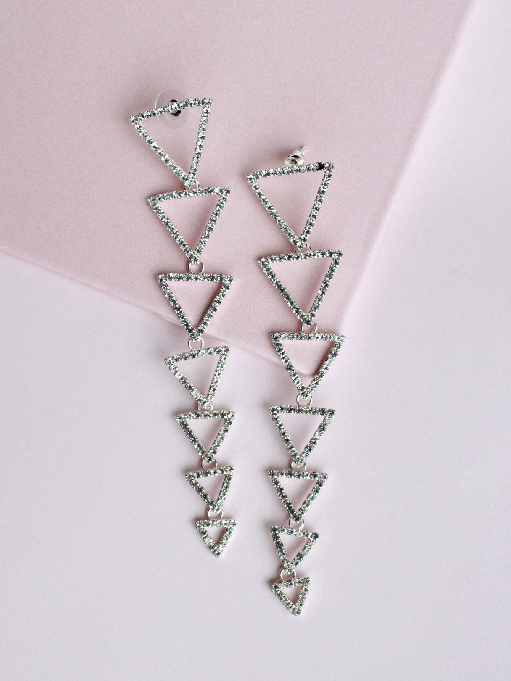 Trickle Triangle Earrings