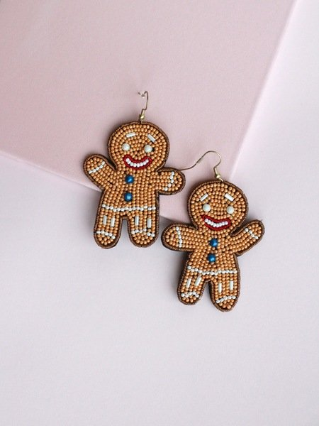 Gingerbread Earrings