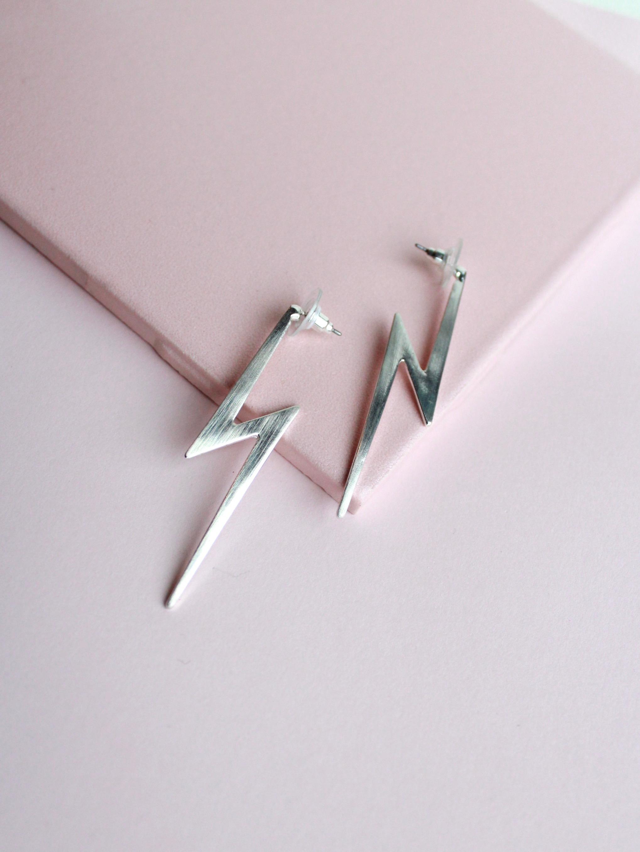 Lightning Earrings Silver